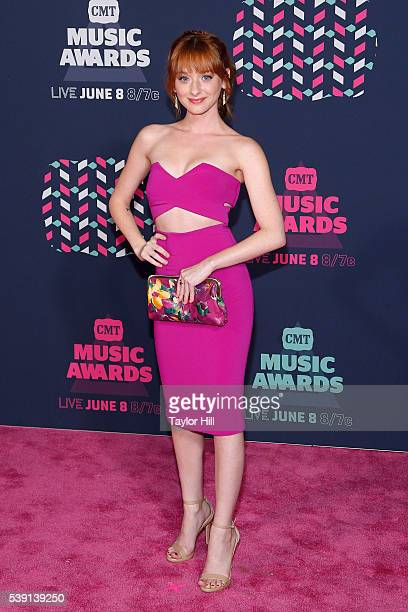 Chelsea Talmadge attends the 2016 CMT Music awards at the Bridgestone Arena on June 8 2016 in Nashville Tennessee