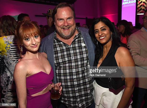 Chelsea Talmadge Kevin Farley and guest attend the 2016 CMT Music awards at the Bridgestone Arena on June 8 2016 in Nashville Tennessee