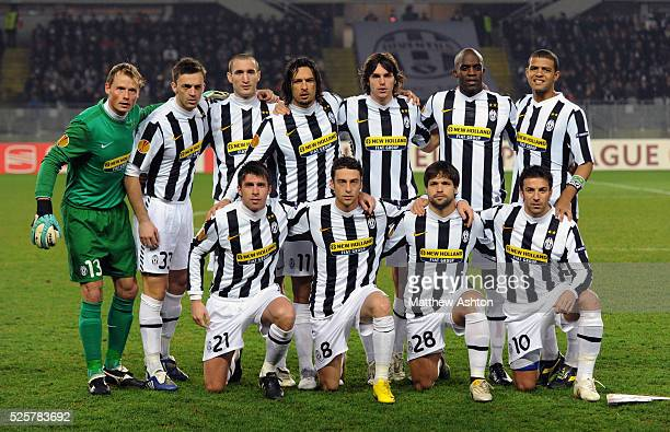 Chelsea team group Alex Manninger of Juventus Nicola Legrottaglie of Juventus Giorgio Chiellini of Juventus Amauri of Juventus Paolo De Ceglie of...