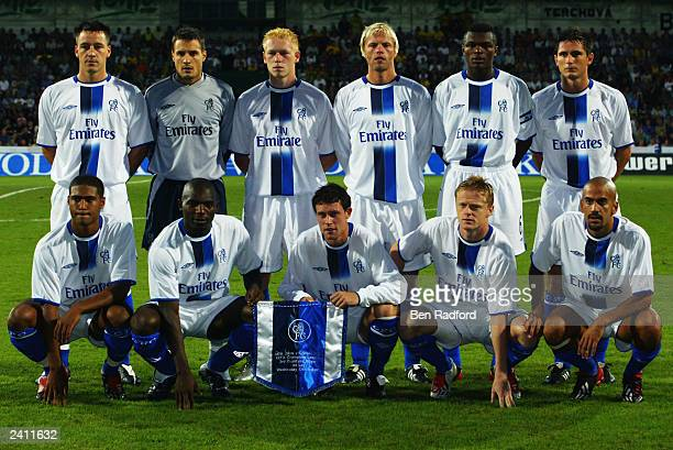Chelsea team group taken before the UEFA Champions League qualifying round first leg match between MSK Zilina and Chelsea held on August 13, 2003 at...