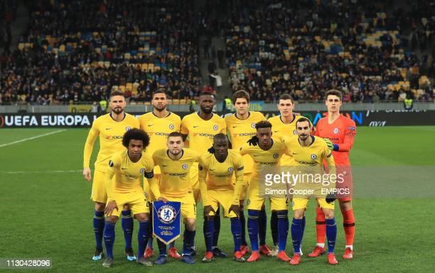 Chelsea team group Top row Olivier Giroud Ruben LoftusCheek Antonio Rudiger Marcos Alonso Andreas Christensen and Kepa Arrizabalaga Bottom row...