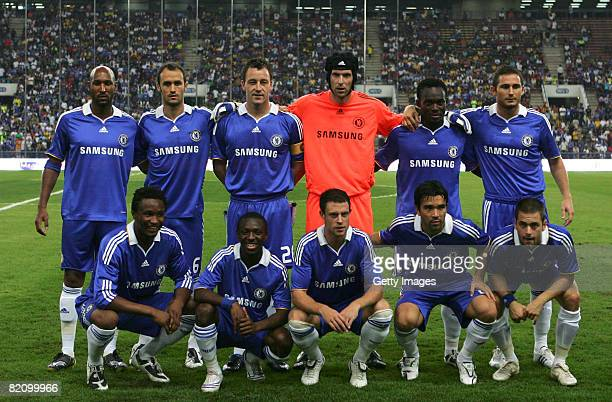 Chelsea team photo during the preseason friendly match between Chelsea and a Malaysian Select XI at the Shah Alam Stadium on July 29 2008 in Kuala...