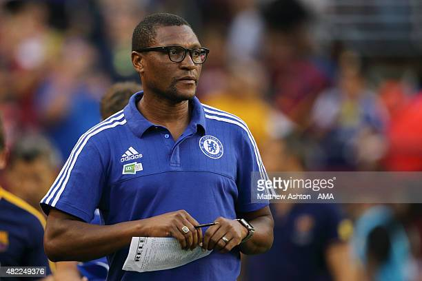 Chelsea Technical Director Michael Emenalo during the International Champions Cup match between Barcelona and Chelsea at FedExField on July 28 2015...