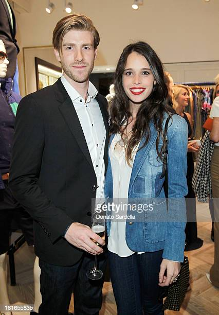Chelsea Tyler and actor Jon Foster attends Tommy Hilfiger New West Coast Flagship Opening on Robertson Boulevard on February 13 2013 in West...