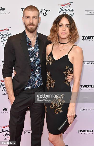 Chelsea Tyler and Jon Foster attend Steven TylerOut on a Limb Show to Benefit Janie's Fund in Collaboration with Youth Villages Red Carpet at David...