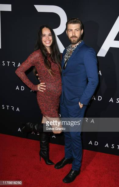 Chelsea Tyler and Jon Foster attend the premiere of 20th Century Fox's Ad Astra at The Cinerama Dome on September 18 2019 in Los Angeles California