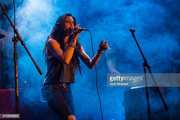 Chelsea Tyler and Jon Foster of Kaneholler perform at One Eyed Jack's on April 20 2015 in New Orleans Louisiana