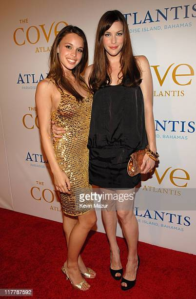 Chelsea Tyler and Liv Tyler during John Travolta Whitney Houston Steven Tyler and Disco Concert Cap Off Grand Opening of The Cove Atlantis at Grand...