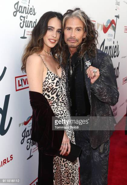 Chelsea Tyler and Steven Tyler at Steven Tyler and Live Nation presents Inaugural Janie's Fund Gala GRAMMY Viewing Party at Red Studios on January 28...