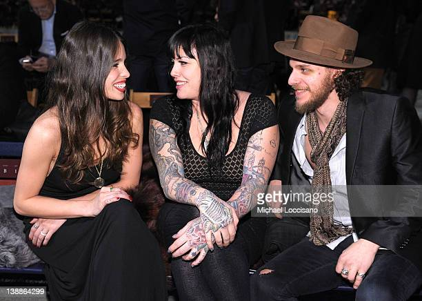 Chelsea Tyler Mia Tyler and Jesse Kotansky attend the Tommy Hilfiger Fall 2012 fashion show during MercedesBenz Fashion Week at Park Avenue Armory on...