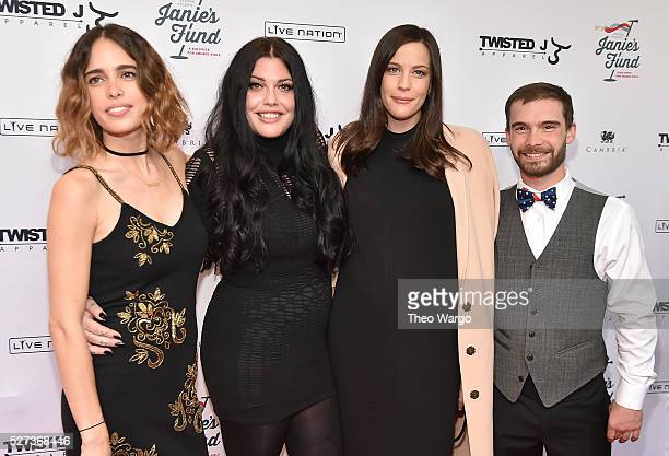 Chelsea Tyler Mia Tyler Liv Tyler and Taj Tallarico attend Steven TylerOut on a Limb Show to Benefit Janie's Fund in Collaboration with Youth...