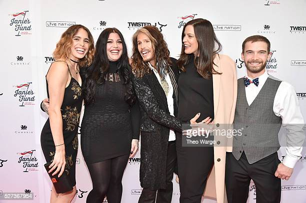 Chelsea Tyler Mia Tyler Steven Tyler Liv Tyler and Taj Tallarico attend Steven TylerOut on a Limb Show to Benefit Janie's Fund in Collaboration with...