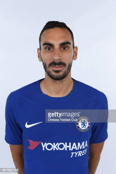 Chelsea unveil new signing Davide Zappacosta on August 31 2017 in Cobham England