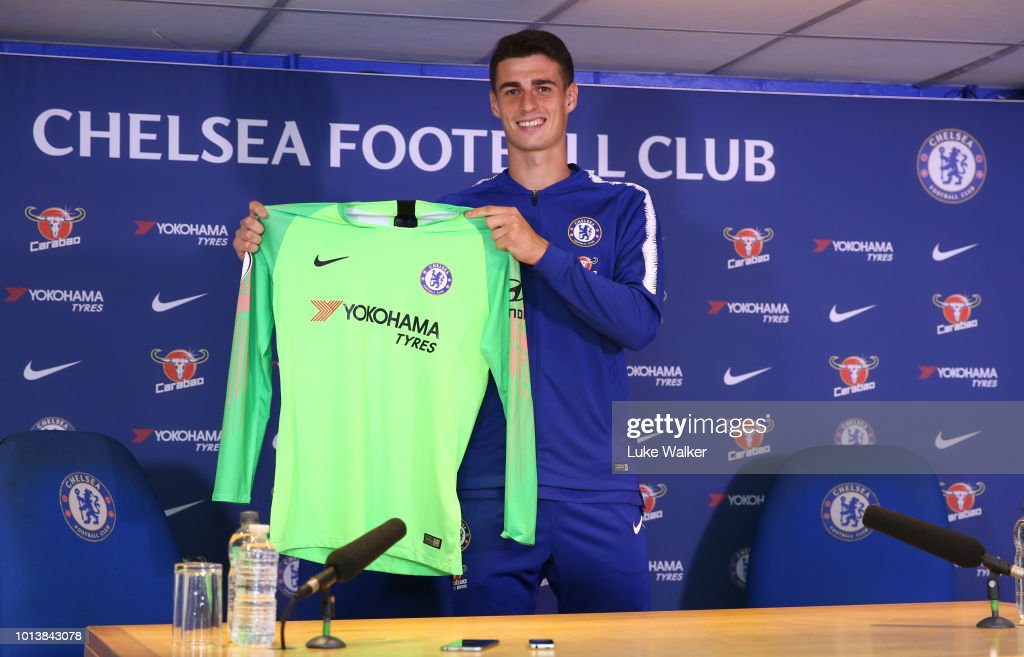 Chelsea Unveil New Signing Kepa Arrizabalaga : News Photo