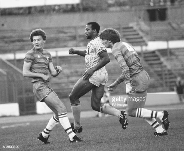 Chelsea v Coventry City in their Canon League Division 1 game at Stamford Bridge London Coventry's Cyrille Regis shoots the ball