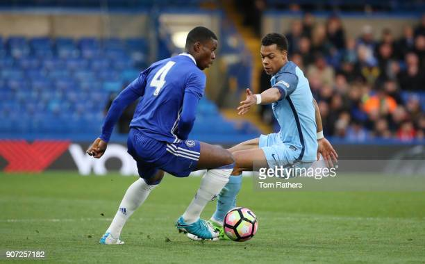 Chelsea v Manchester City FA Youth Cup Final Second Leg Stamford Bridge Manchester City's Lukas Nmecha in the FA Youth Cup Final against Chelsea