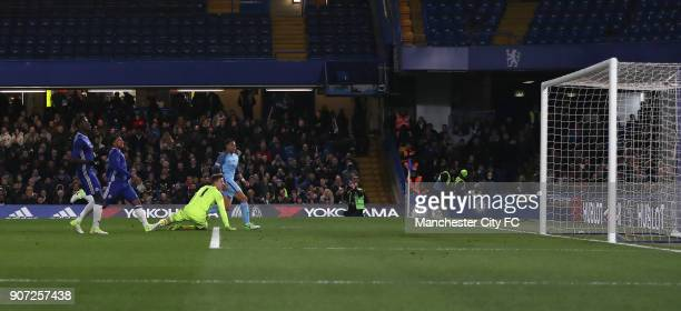 Chelsea v Manchester City FA Youth Cup Final Second Leg Stamford Bridge Manchester City's Lukas Nmecha scores his side's first goal of the game