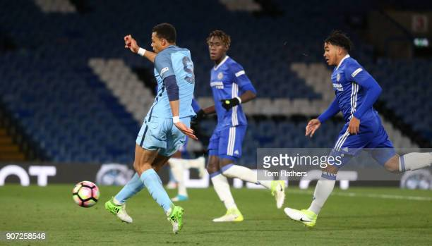 Chelsea v Manchester City FA Youth Cup Final Second Leg Stamford Bridge Manchester City's Lukas Nmecha scores in the FA Youth Cup Final against...