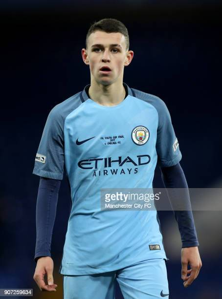Chelsea v Manchester City FA Youth Cup Final Second Leg Stamford Bridge Phil Foden Manchester City