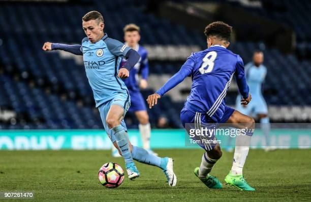 Chelsea v Manchester City FA Youth Cup Final Second Leg Stamford Bridge Manchester City's Phil Foden in action in the FA Youth Cup Final