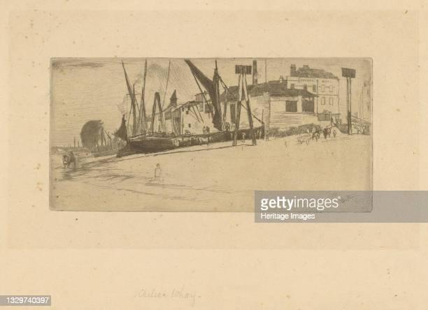 Chelsea Wharf, 1863. Artist James Abbott McNeill Whistler.