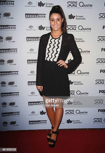 Chelsea Williamson arrives at the Flickerfest International Short Film Festival Opening Night at Bondi Beach on January 10 2014 in Sydney Australia