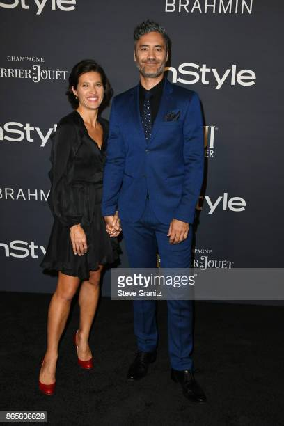 Chelsea Winstanley and Taika Waititi attend the 3rd Annual InStyle Awards at The Getty Center on October 23 2017 in Los Angeles California