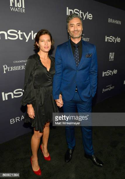 Chelsea Winstanley and Taika Waititi attend the Third Annual 'InStyle Awards' presented by InStyle at The Getty Center on October 23 2017 in Los...