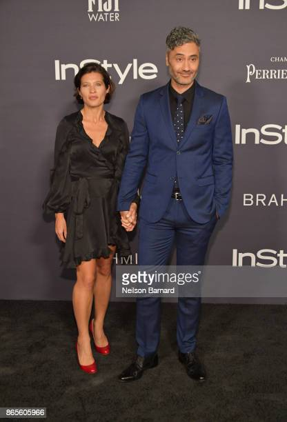 Chelsea Winstanley and Taika Waititi attends 3rd Annual InStyle Awards at The Getty Center on October 23 2017 in Los Angeles California