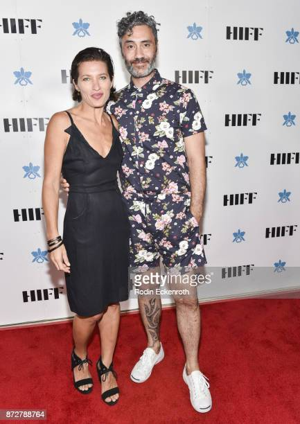 Chelsea Winstanley Cohen and director/actor Taika Waititi attend the 37th Annual Hawaii International Film Festival Gala presented by Halekulani on...