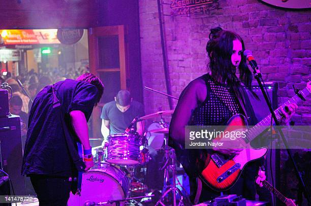 Chelsea Wolfe performs onstage at Sargeant House during the 2012 SXSW Music Film Interactive Festival at The Bat Bar on March 16 2012 in Austin Texas