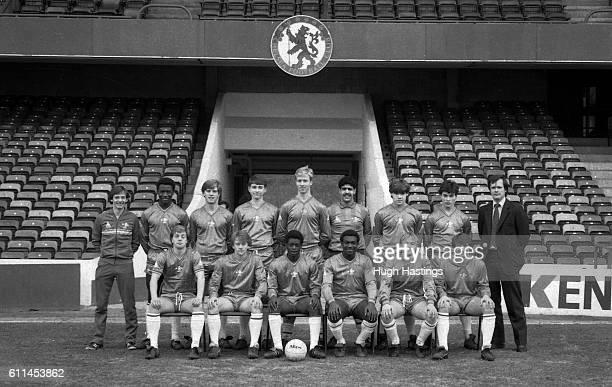 Chelsea Youth Team Group with their coach Gwyn Williams