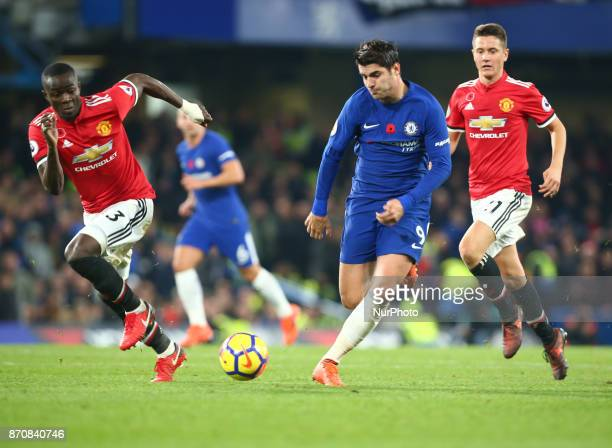Chelsea's Alvaro Morata during the Premier League match between Chelsea and Manchester United at Stamford Bridge London England on 05 Nov 2017