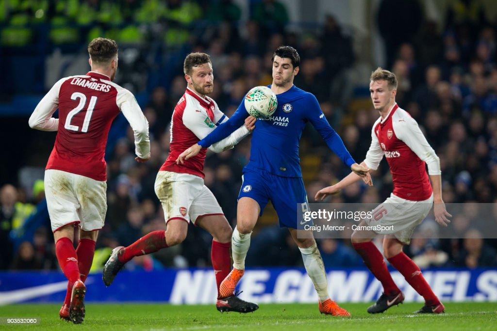 Chelsea v Arsenal - Carabao Cup Semi-Final: First Leg : Nachrichtenfoto