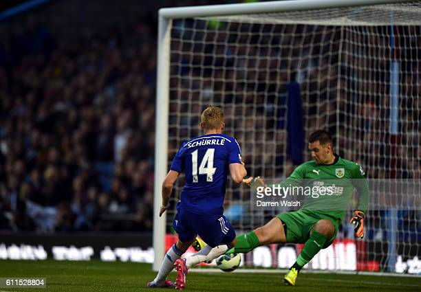 Chelsea's Andre Schurrle scores his side's second goal