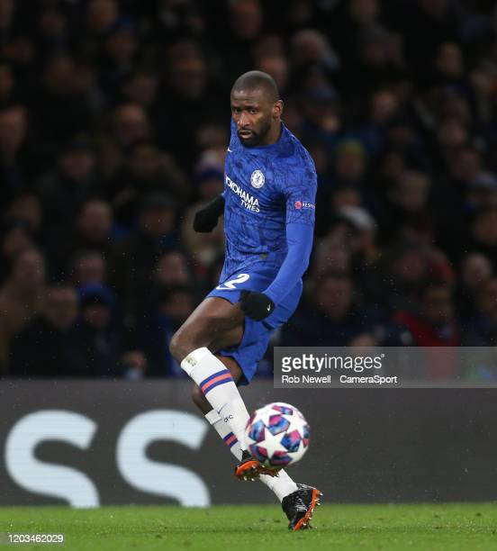 Chelsea's Antonio Rudiger during the UEFA Champions League round of 16 first leg match between Chelsea FC and FC Bayern Muenchen at Stamford Bridge...