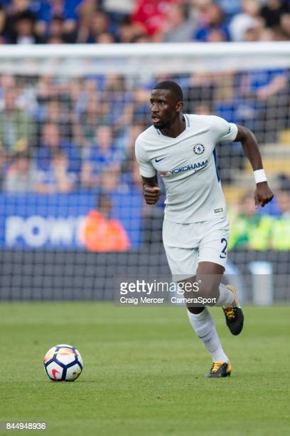 Chelsea's Antonio Rudiger in action during the Premier League match between Leicester City and Chelsea at The King Power Stadium on September 9 2017...