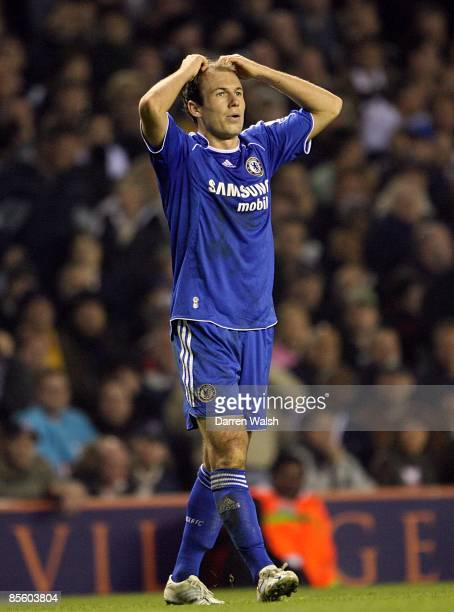 Chelsea's Arjen Robben after hitting the post in the final stages of the game