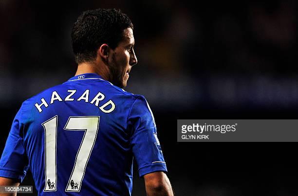 Chelsea's Belgian midfielder Eden Hazard during their English Premier League football match against Reading at Stamford Bridge in London on August 22...