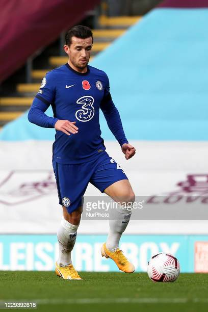 Chelsea's Ben Chilwell in action during the Premier League match between Burnley and Chelsea at Turf Moor Burnley on Saturday 31st October 2020