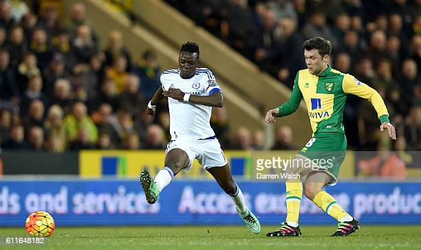 Chelsea's Bertrand Traore and Norwich City's Jonny Howson battle for the ball