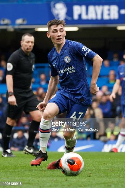 Chelsea's Billy Gilmour during the Premier League match between Chelsea FC and Everton FC at Stamford Bridge on March 8 2020 in London United Kingdom