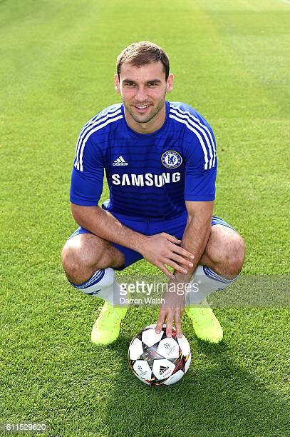 Chelsea's Branislav Ivanovic during the 1st team photocall at the Cobham Training Ground on 14th September 2014 in Cobham England