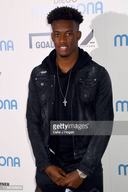 Chelsea's Callum HudsonOdoi attends the Diego Maradona Gala Screening at Picturehouse Central on June 10 2019 in London England