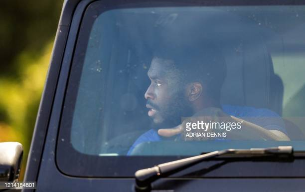 Chelsea's Canadianborn English defender Fikayo Tomori leaves from Chelsea's Cobham training facility in Stoke D'Abernon southwest of London on May 20...