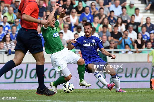 Chelsea's Cesar Azpilicueta during a pre season friendly match between NK Olimpija Ljubljana and Chelsea FC at the Stozice Stadium on the 27th July...