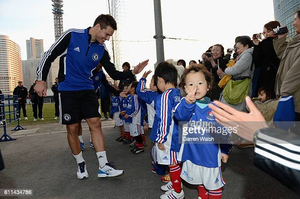 Chelsea's Cesar Azpilicueta during a training session for the FIFA Club World Cup at the Marinos Town Training Ground on the 14th December 2012 in...