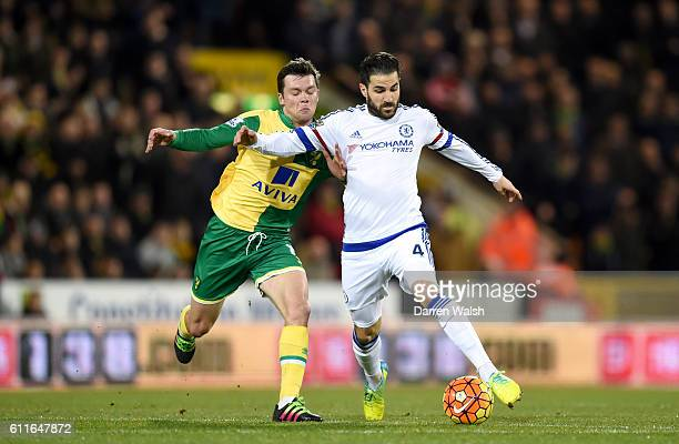 Chelsea's Cesc Fabregas gets away from Norwich City's Jonny Howson