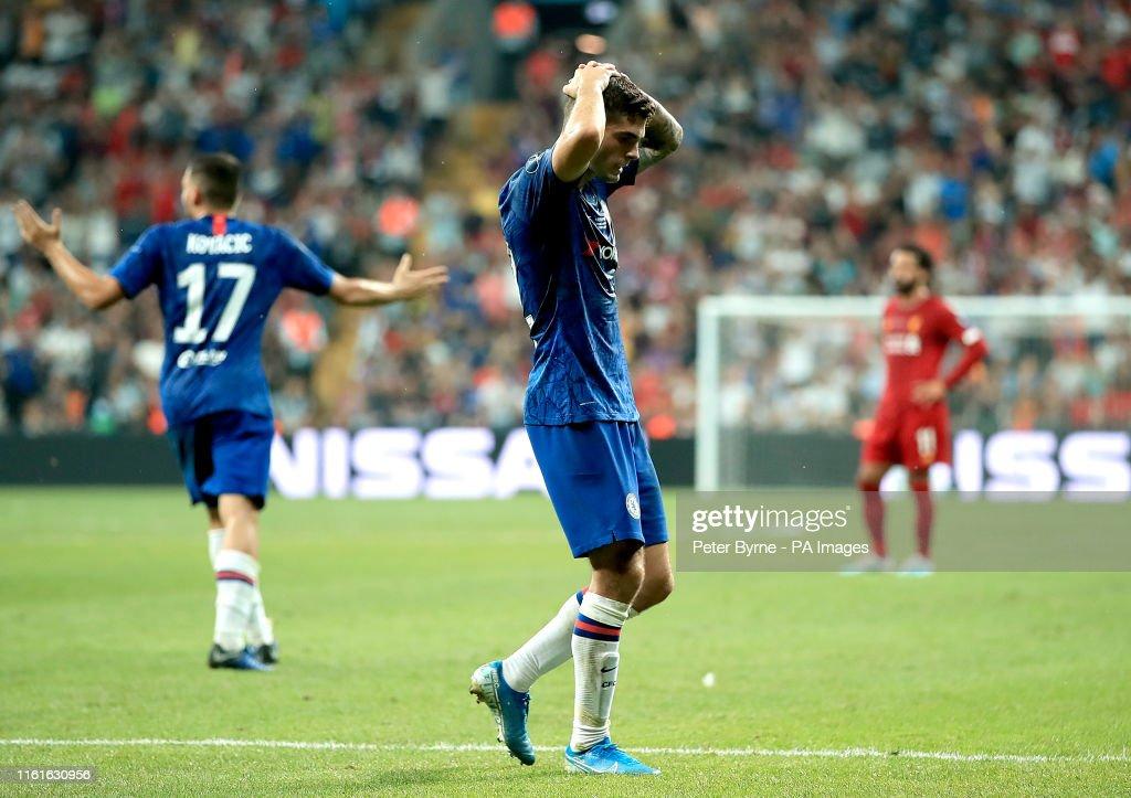 Liverpool v Chelsea - UEFA Super Cup - Final - Besiktas Park : Fotografia de notícias