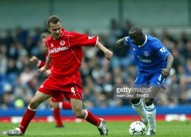 Chelsea's Claude Makelele and Middlesbrough's Szilard Nemeth